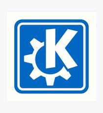 KDE logo Art Print
