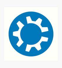 kubuntu logo Art Print