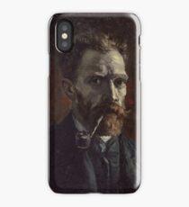 Vincent Van Gogh - Self-portrait with pipe, September 1886 - November 1886 iPhone Case/Skin