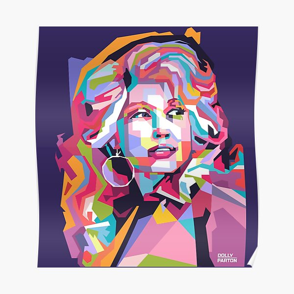 Abstract Dolly Parton in WPAP Poster