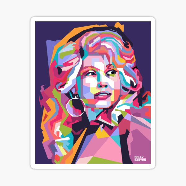 Abstract Dolly Parton in WPAP Sticker