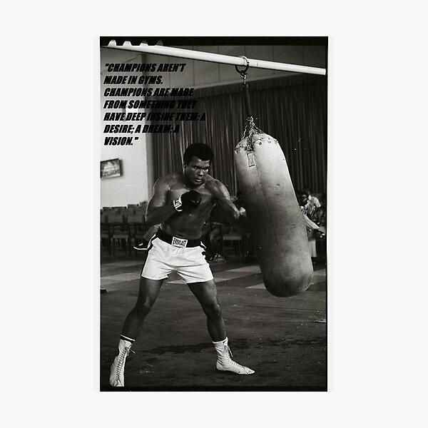 Citation du champion Mohamed Ali Impression photo