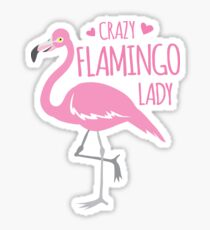 Crazy Flamingo lady Sticker