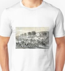 Fast trotters on Harlem Lane NY - 1870 - Currier & Ives Unisex T-Shirt