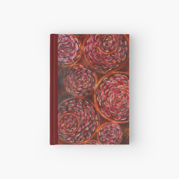 Carnations - Mixed Media  Hardcover Journal