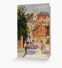 Hythe Kent, Mount street Greeting Card