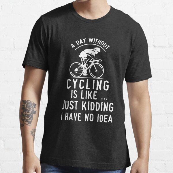 No Fuel No Traffic Cycling T-Shirt Funny Novelty Mens tee TShirt