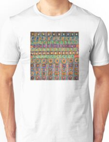 Marvellous Rows of Squares and Circles with Points  Unisex T-Shirt