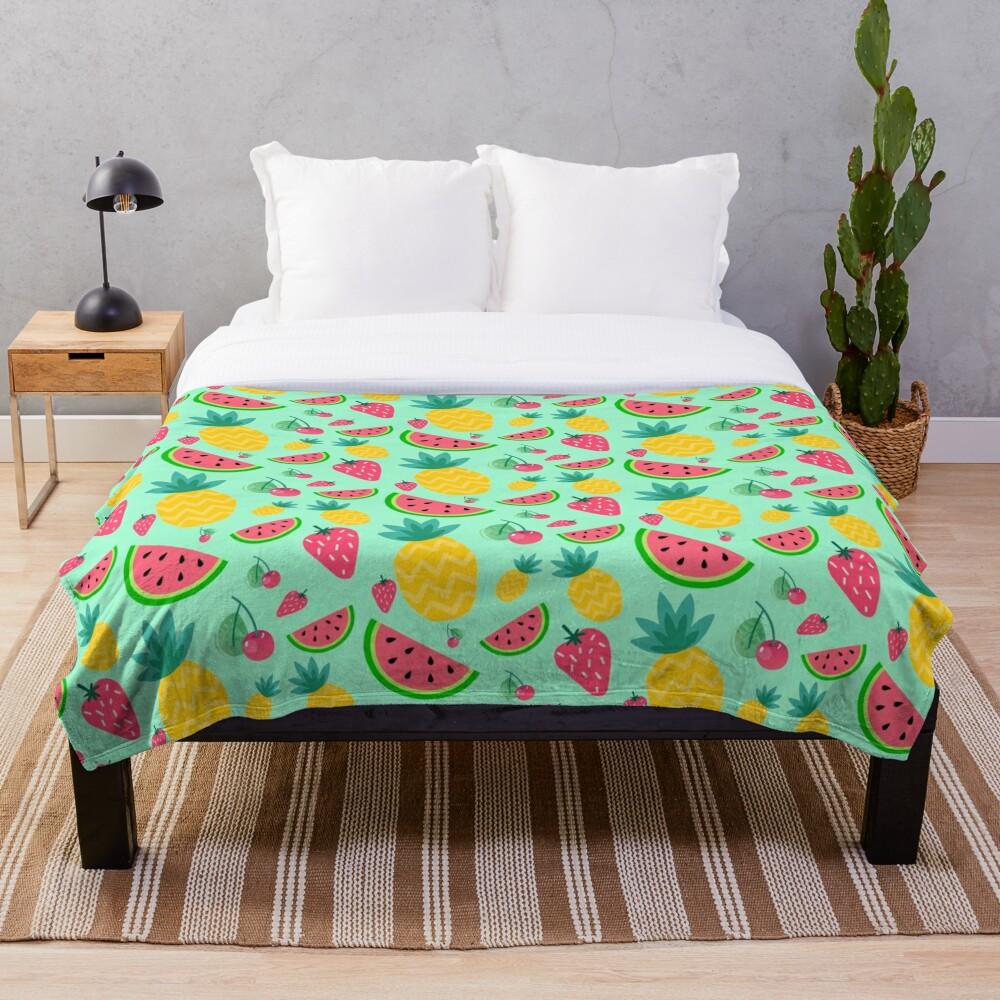 Fruit Salad Throw Blanket