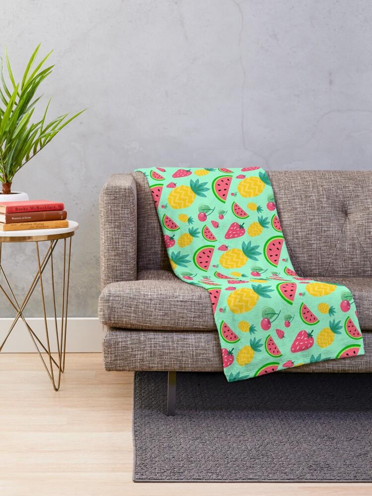 Alternate view of Fruit Salad Throw Blanket