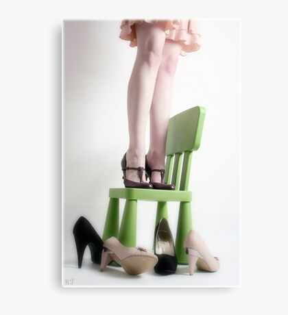 three pairs of shoes Canvas Print