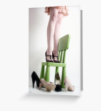 three pairs of shoes Greeting Card