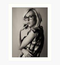 a portrait of Iveta Art Print