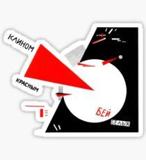 El Lissitzky - Beat the Whites Sticker