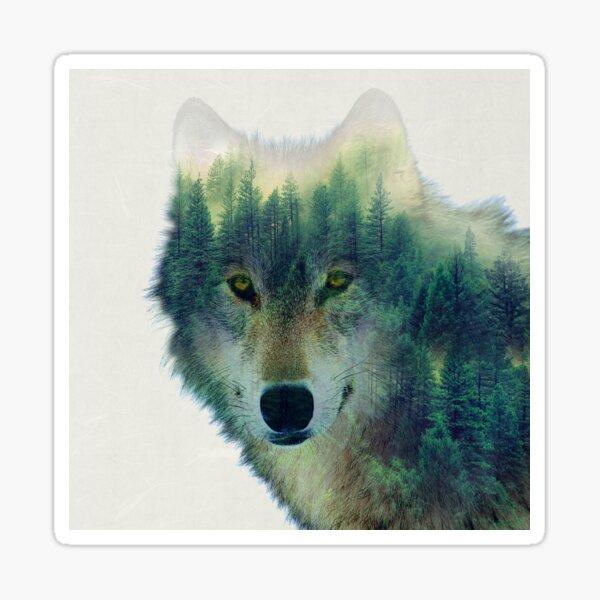 Forest Wolf Sticker