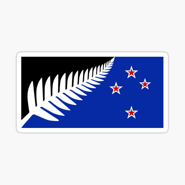Proposed new national flag design for New Zealand Sticker