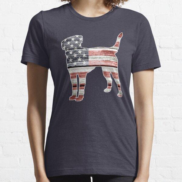 Patriotic Labrador Retriever, American Flag Essential T-Shirt
