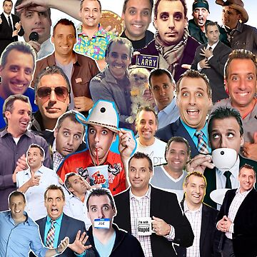 Joe Gatto collage (Throw Pillow) by LauraWoollin