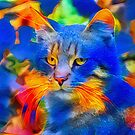 Artificial neural style flower wild cat by blackhalt