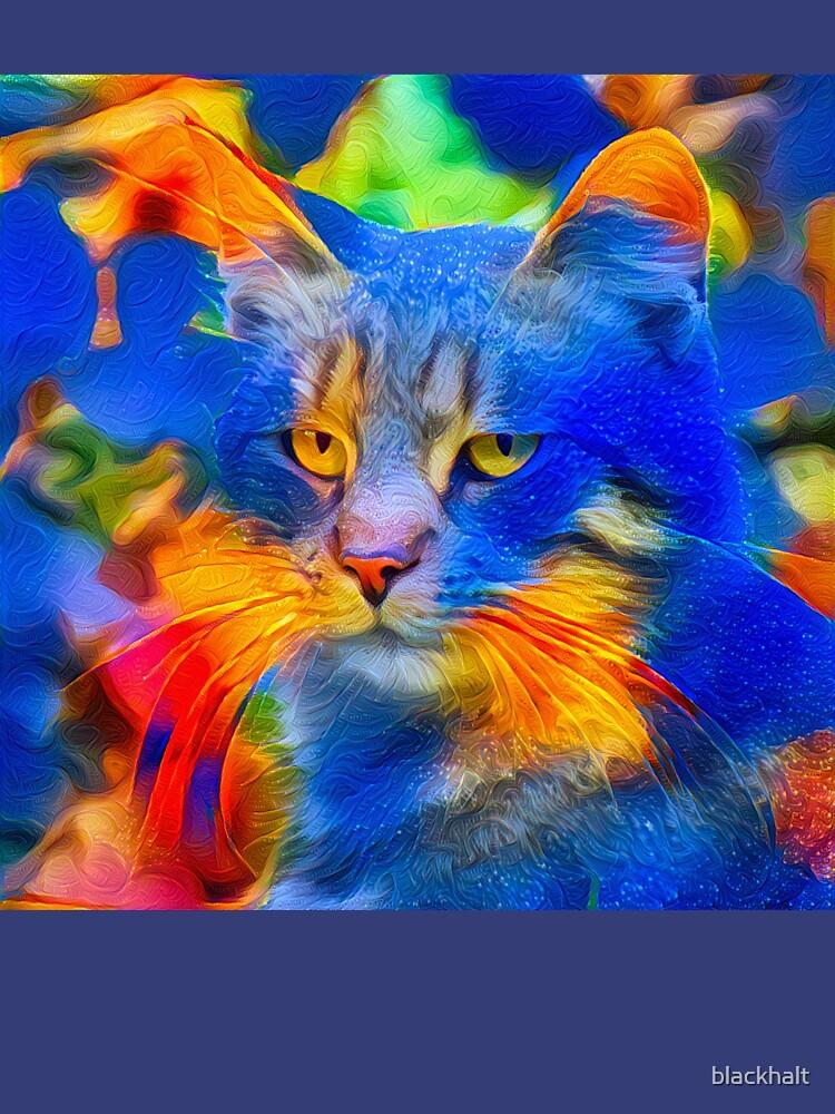 Artificial neural style flower wild cat by blackhalt
