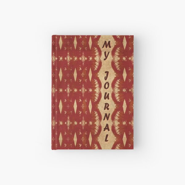 Red Weave My Journal Hardcover Journal