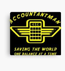 Accountantman Canvas Print