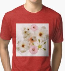 Lovely floral paint Tri-blend T-Shirt