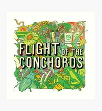 Flight of the Concords New zelands Bret Jemaine Art Print