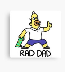 """Rad Dad"" for Rad Dads Canvas Print"