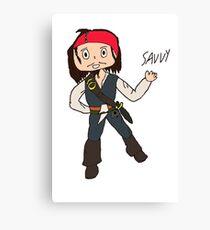 Chibi Captain Jack Sparrow Canvas Print