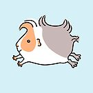 Leaping Guinea-pig - Apricot and Grey by Zoe Lathey