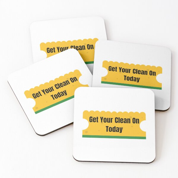 Get Your Clean On Today Funny T-shirt Classic Coasters (Set of 4)