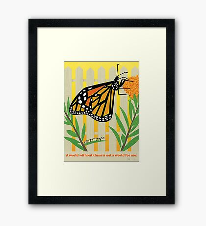 Monarch Conservation Poster Framed Print