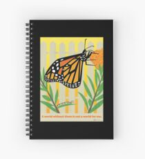 Monarch Conservation Poster Spiral Notebook
