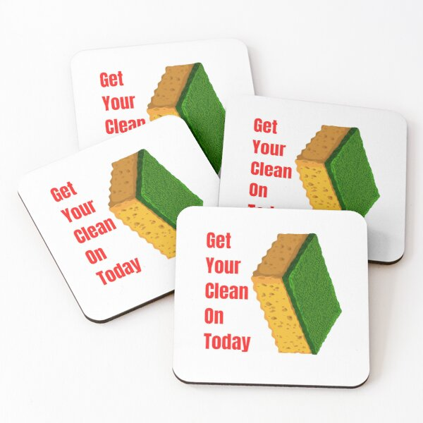 Get Your Clean On Today Funny saying T-shirt Classic Coasters (Set of 4)