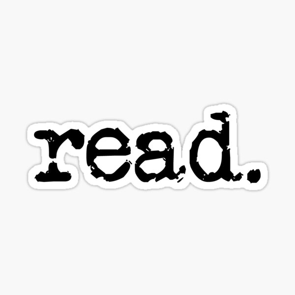 read. Sticker