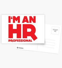 I'm an HR Professional Postcards
