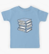 Smart Girls Read Books - book lover gift inspirational quote Kids Tee
