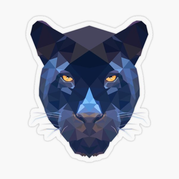 Panther Transparent Sticker