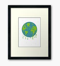 global warming tshirt Framed Print