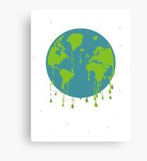global warming tshirt Canvas Print
