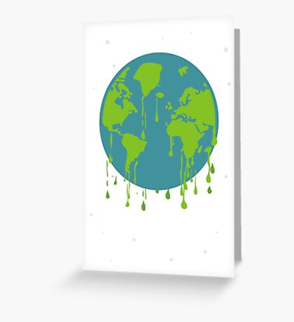 global warming tshirt Greeting Card