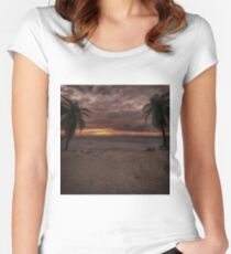 Fantasy Sunset Women's Fitted Scoop T-Shirt