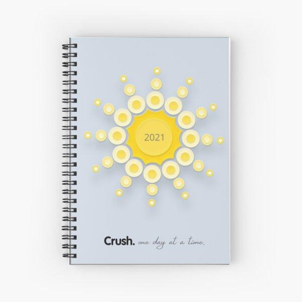 Crush. Blue Skies & Sparkle Spiral Notebook
