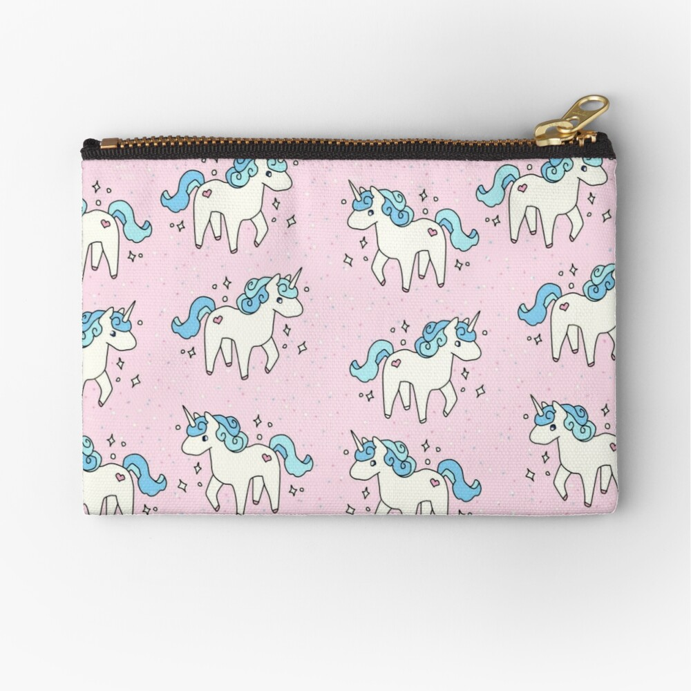 Unicorn Scatter Pattern Zipper Pouch
