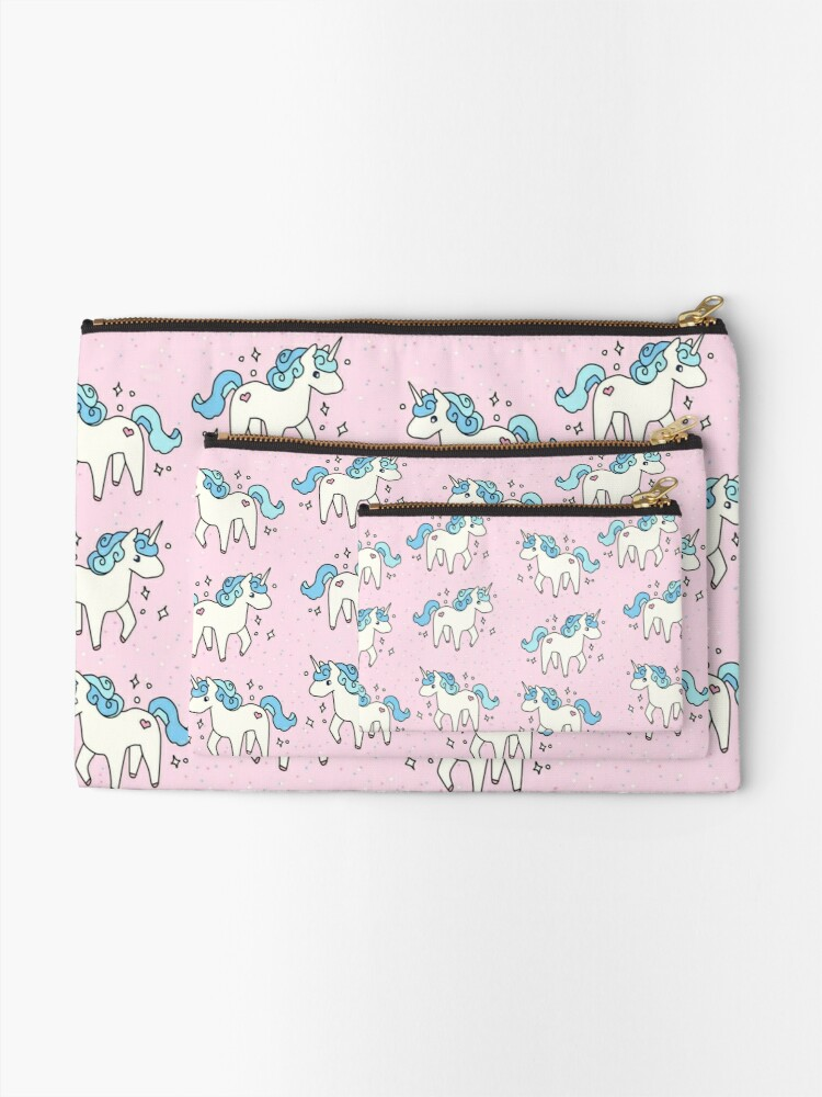 Alternate view of Unicorn Scatter Pattern Zipper Pouch