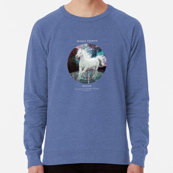 Horse Friend: Hester (White Text) Lightweight Sweatshirt