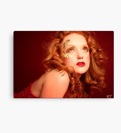 red lioness Canvas Print