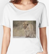Lion cub with attitude Women's Relaxed Fit T-Shirt