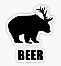 Beer Bear Sticker